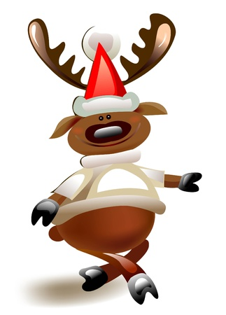 happy reindeer  Vector