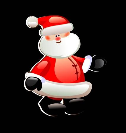 red beard: Santa Claus Illustration