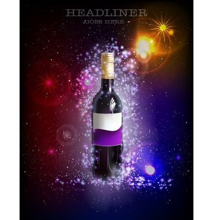fantastic wine Vector