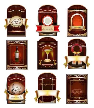 whiskey: набор наклеек Иллюстрация