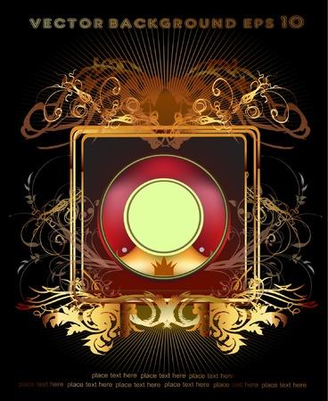 golden label Stock Vector - 10365456