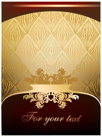 royal quality: vector background with banners and label