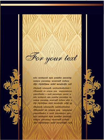 sample text: vector background with banners and label