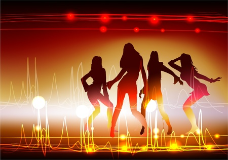 neon girls  Vector