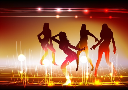 neon party: neon girls