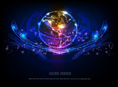 the globe: fondo con globo (raccolta neon)