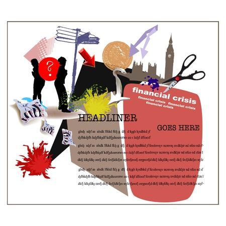 recession: financial crisis illustration