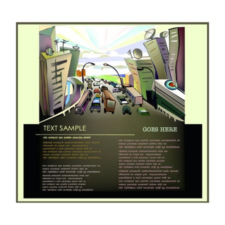 bridge in nature: City escape illustration