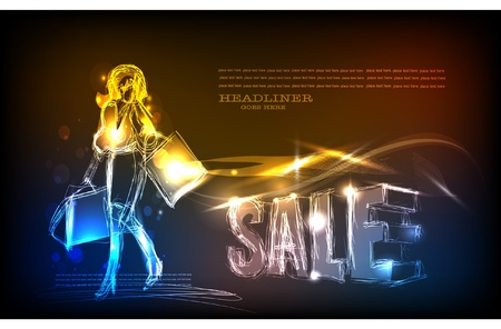laser tag: neon background Sale time