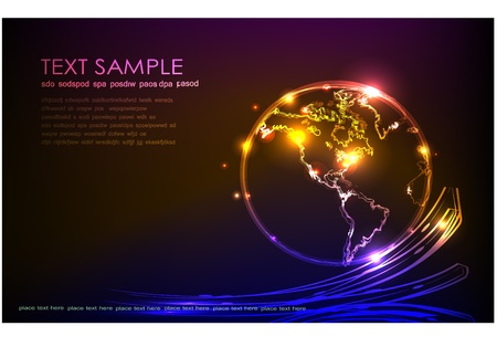 abstract background with globe Vector
