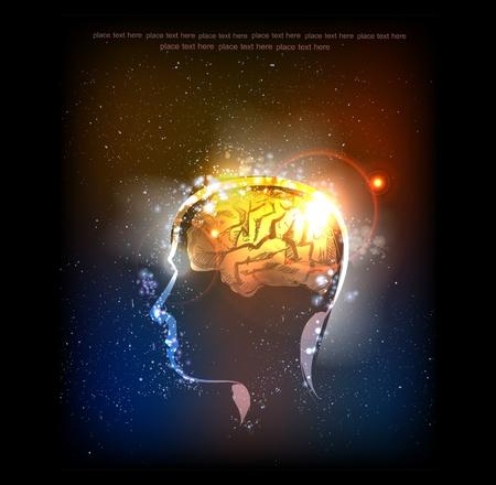the universe: Ilustraci�n de los seres humanos idea consept