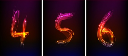 numbers made of light collection