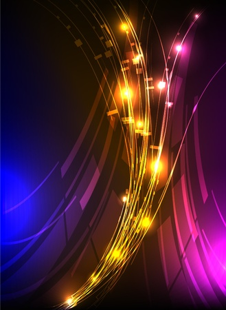 menu card design: abstract background neon collection