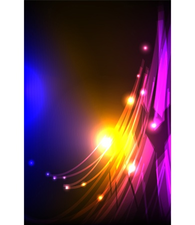 abstract background neon collection Vector