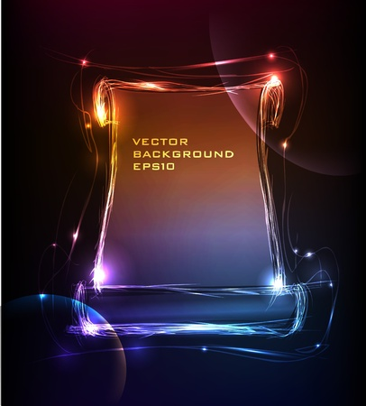 neon collection Bunner Stock Vector - 10365440