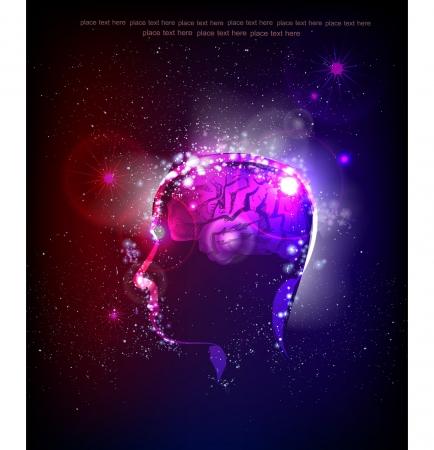 brillant: Neon Kopf Generierung von Ideen Illustration