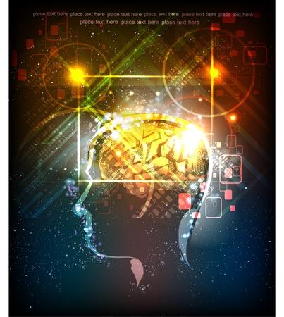 Neon hoofd genereren van ideeën