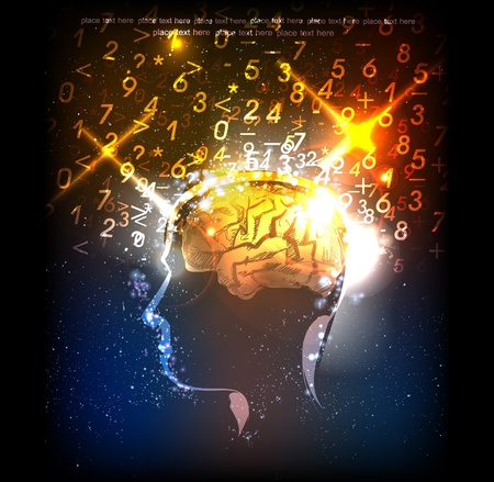 memory: Neon head generating ideas
