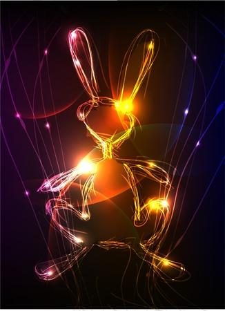 neon bunny Stock Vector - 10375508