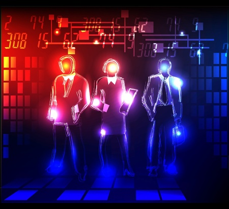 numbers abstract: business team Illustration