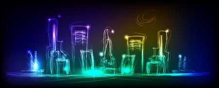 night view: night city neon collection