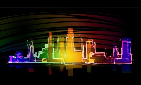night city neon collection Vector
