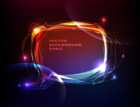 neon bubble Vector