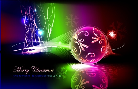 neon christmas background Stock Vector - 10375536