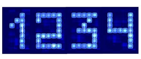 neon numbers Stock Vector - 10375530