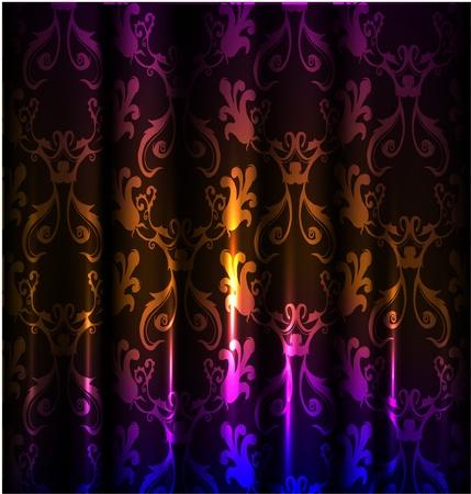 neon wallpaper: tende Vettoriali