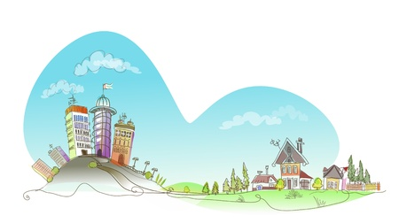 City and village Vector
