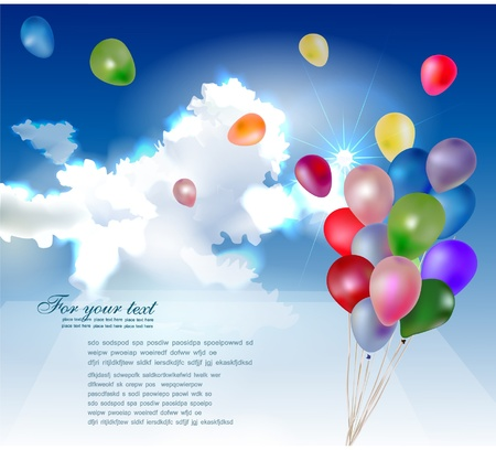 balloons in the sky background Stock Vector - 10375484