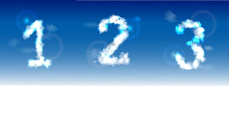 typesetter: Alphabet made of clouds
