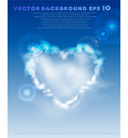 valentine's background with heart Stock Vector - 10375455