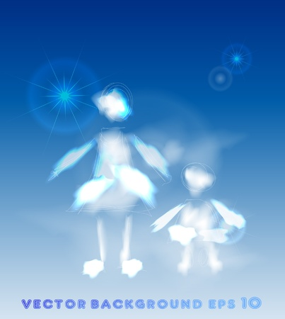 mother and child Stock Vector - 10375430