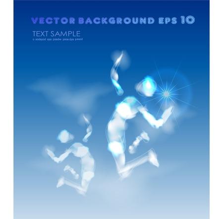 jump of winner Stock Vector - 10375415
