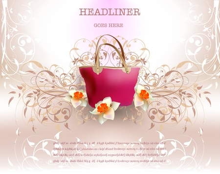 background with bag Vector