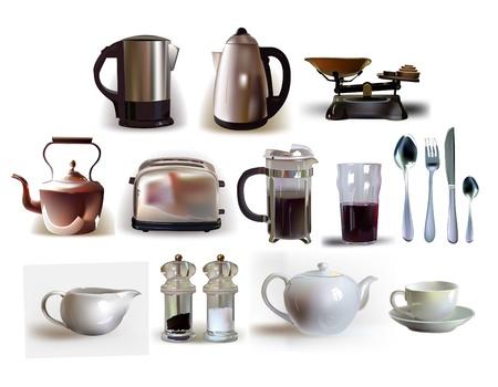 kitchenware: kitchen breakfast set