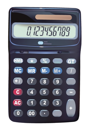 mathematician: calculator Illustration