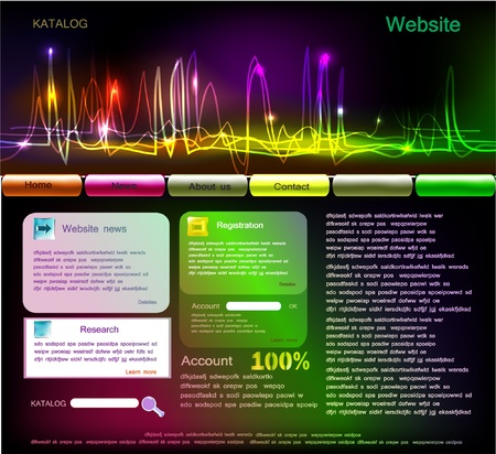 web templates  Vector