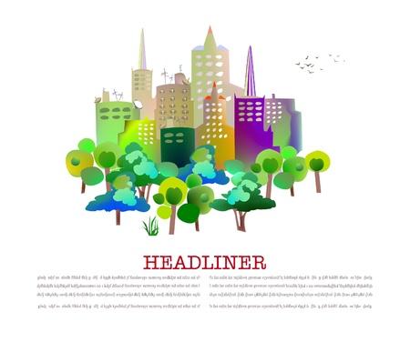 town houses capital: capital illustration Illustration