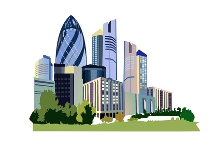 modern office: city icon