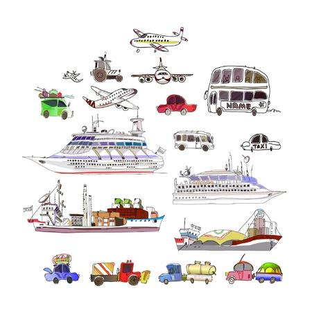 cargo vessel: trancport icons
