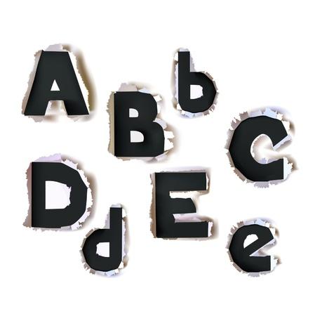 paper alphabet Bold version  Stock Vector - 10375444