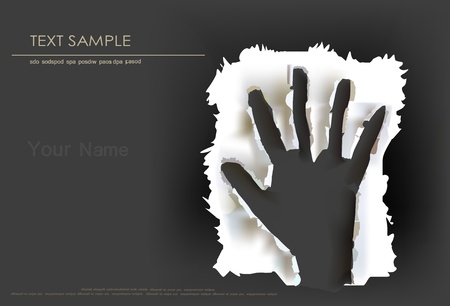 paper ripped hand Vector