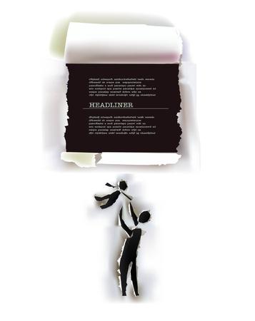 gaten: papier gescheurd achtergrond