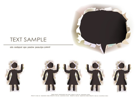 woman`s chioce background Vector