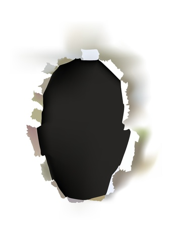 ripped paper: ripped paper face shape