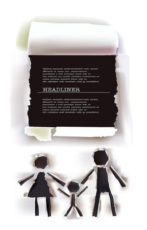 Familie und Rahmen für text Vektorgrafik
