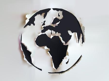 blank business card: Globe